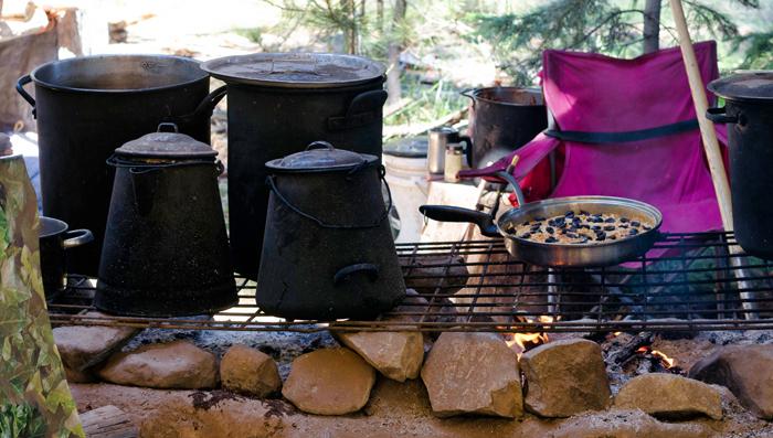 The stove at Wanna Burn