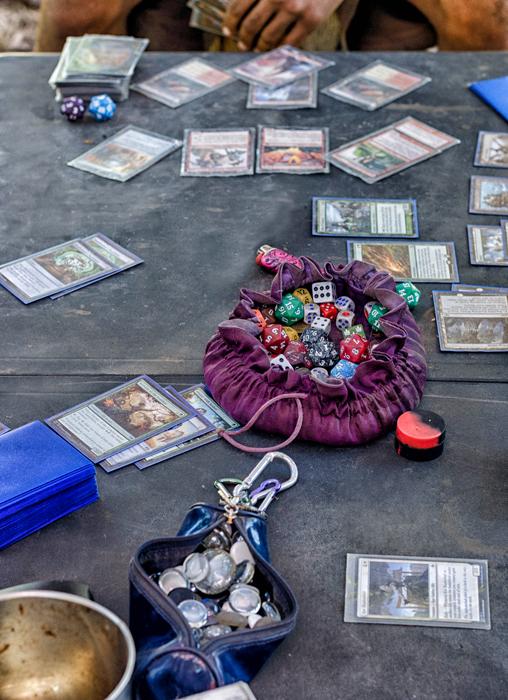 Playing Magic the Gathering at Wanna Burn